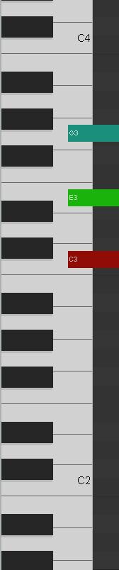 Reaper C Major Chord Piano Roll
