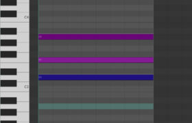 Piano Roll Reaper - D Minor Chord