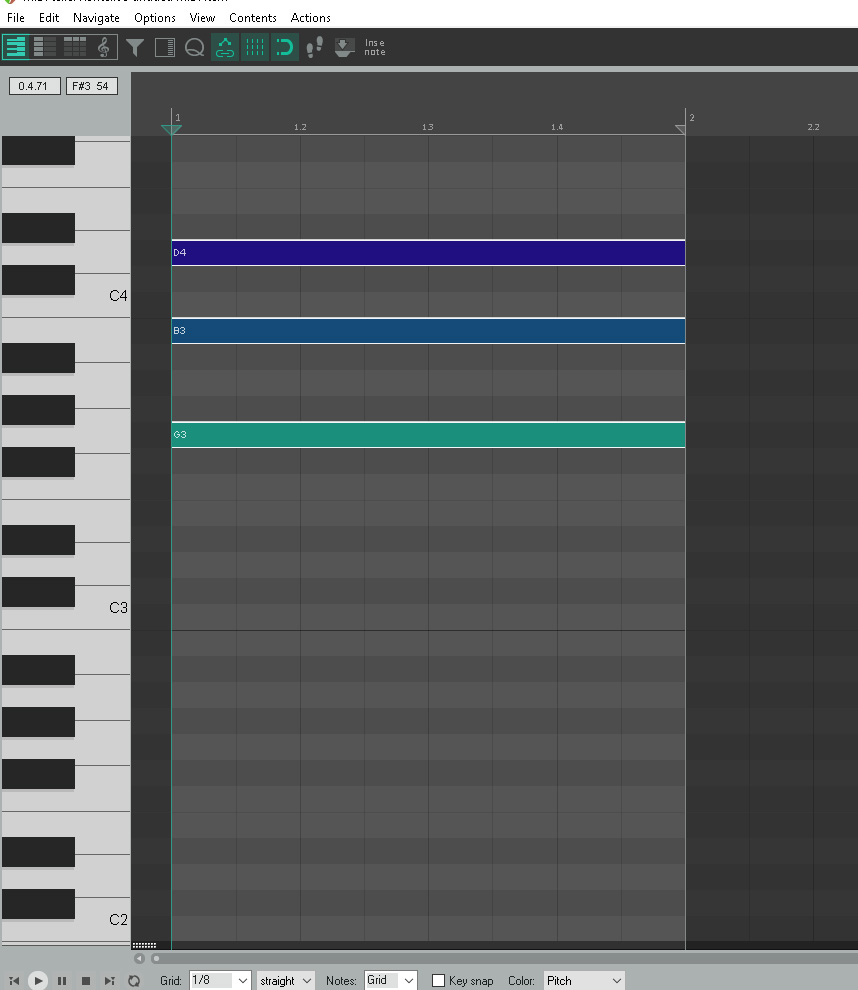 G Major Chord – Piano Roll – Reaper   Untidy Music